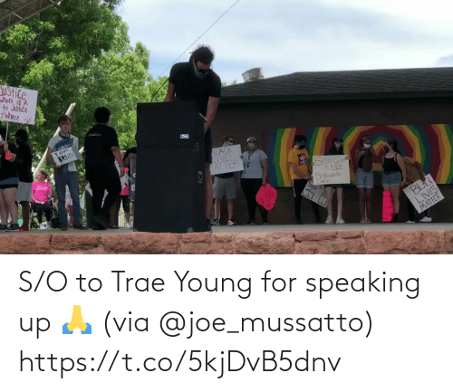 Young: S/O to Trae Young for speaking up 🙏 (via @joe_mussatto) https://t.co/5kjDvB5dnv