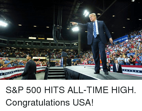 Congratulations, Time, and Usa: S&P 500 HITS ALL-TIME HIGH. Congratulations USA!