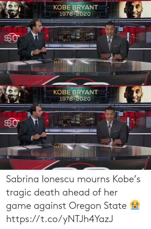 her: Sabrina Ionescu mourns Kobe's tragic death ahead of her game against Oregon State 😭 https://t.co/yNTJh4YazJ