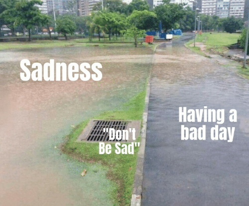 Bad, Bad Day, and Sad: Sadness  Having a  bad day  Be Sad""