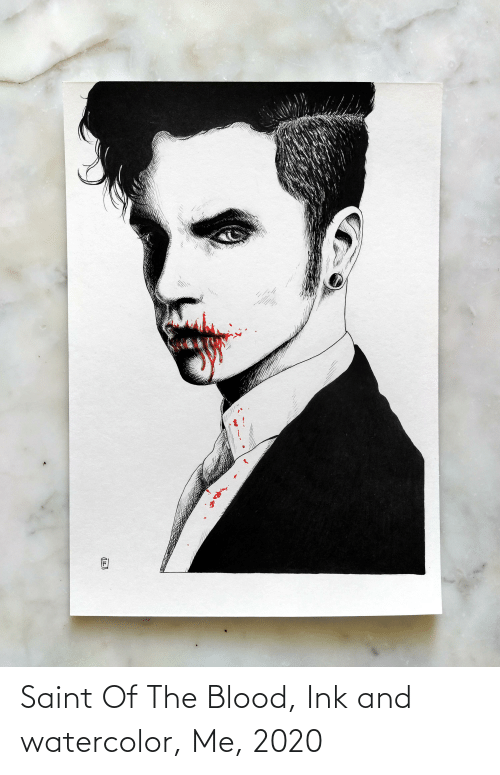saint: Saint Of The Blood, Ink and watercolor, Me, 2020