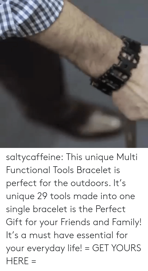The Outdoors: saltycaffeine: This unique Multi Functional Tools Bracelet is perfect for the outdoors. It's unique 29 tools made into one single bracelet is the Perfect Gift for your Friends and Family! It's a must have essential for your everyday life! = GET YOURS HERE =