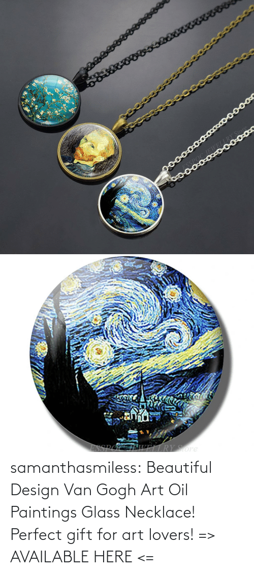 van gogh: samanthasmiless:  Beautiful Design Van Gogh Art Oil Paintings Glass Necklace! Perfect gift for art lovers! => AVAILABLE HERE <=