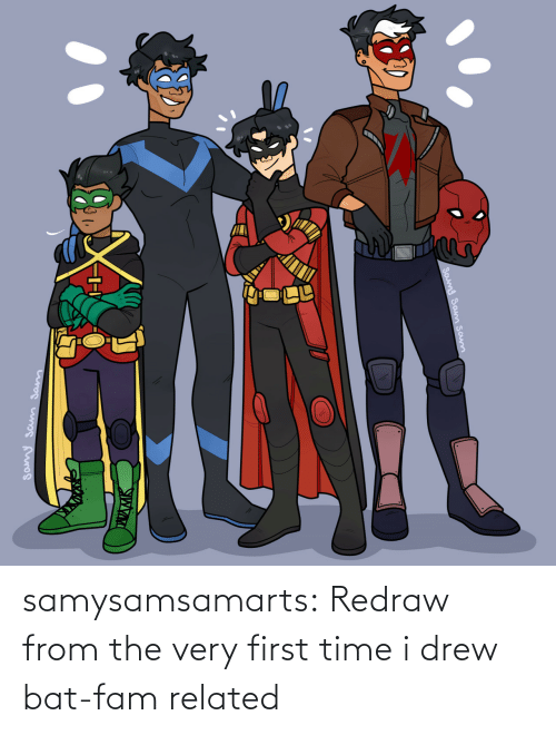 Dick: samysamsamarts:  Redraw from the very first time i drew bat-fam related