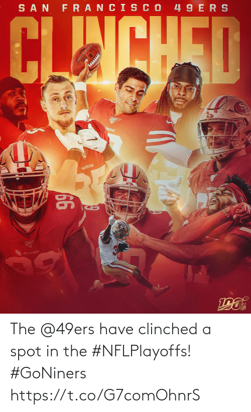 Francis: SAN FRANCIS CO 49 ERS  CLINCHED  49ERS  66  49s Re The @49ers have clinched a spot in the #NFLPlayoffs! #GoNiners https://t.co/G7comOhnrS