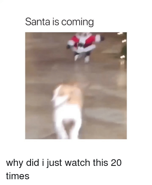 Santa, Watch, and Girl Memes: Santa is coming why did i just watch this 20 times