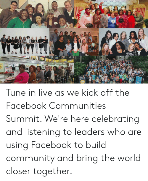 Community, Dank, and Facebook: SAparty  itu  SIFE  akkaksks  rdenv  Eat  Hmars h  Chighrock  49  AK Tune in live as we kick off the Facebook Communities Summit. We're here celebrating and listening to leaders who are using Facebook to build community and bring the world closer together.