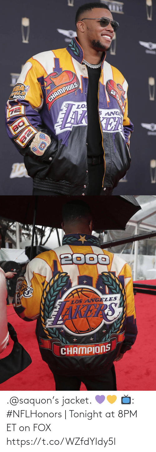 jacket: .@saquon's jacket. 💜💛  📺: #NFLHonors | Tonight at 8PM ET on FOX https://t.co/WZfdYIdy5l