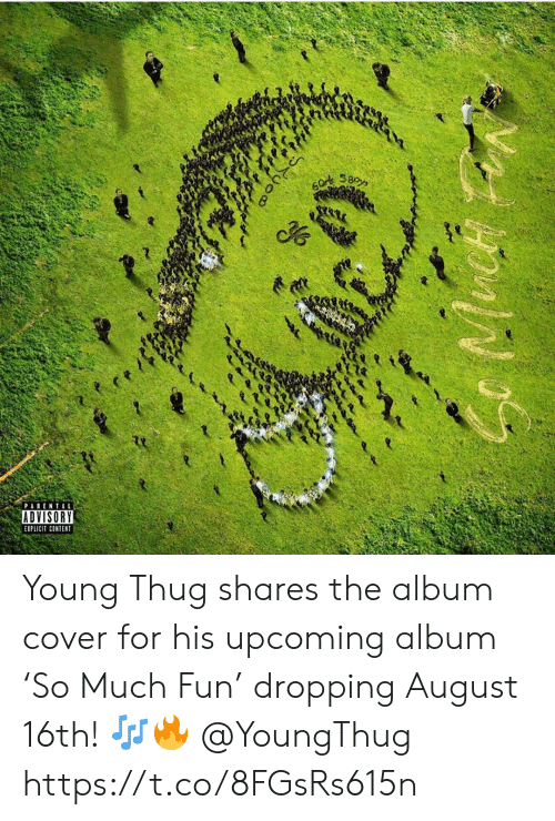 Dropping: SBoys  PARENTAL  ADVISORY  EXPLICIT CONTENT Young Thug shares the album cover for his upcoming album 'So Much Fun' dropping August 16th! 🎶🔥 @YoungThug https://t.co/8FGsRs615n