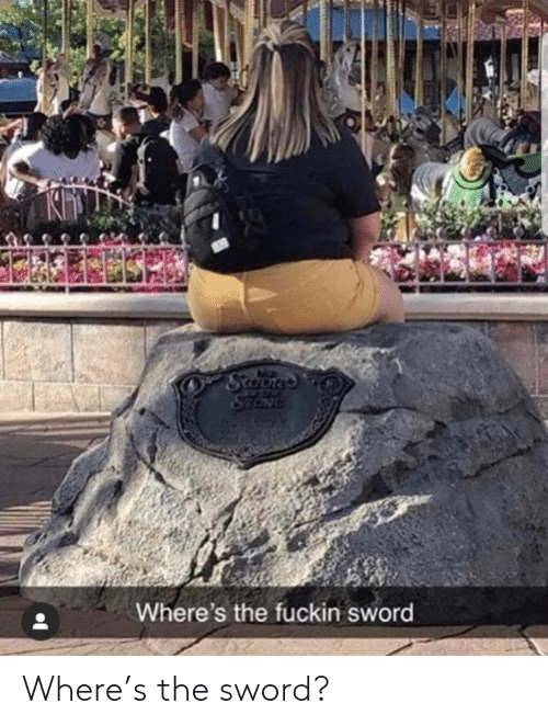the sword: Scaons  STONG  Where's the fuckin sword Where's the sword?