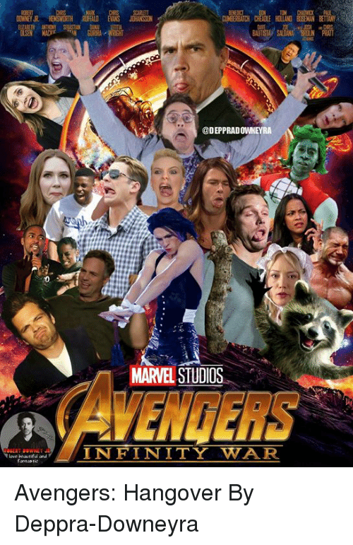 Dank, Fail, and Love: SCARLETT  CUMBERBATCH  FAIL  BETTANY  MAN  0  @DEPPRADOWNEYRA  MARVEL STUDIOS  AVENGERS  love beasrifud and  fantastio  INFINITY WAR Avengers: Hangover  By Deppra-Downeyra