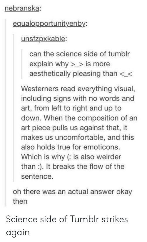 Science: Science side of Tumblr strikes again