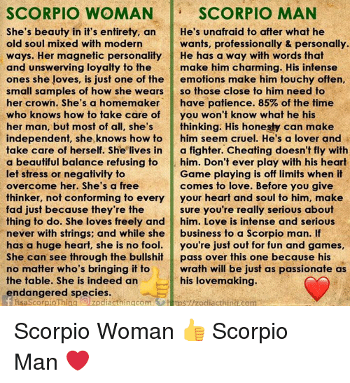 what a scorpio man looks for in a woman