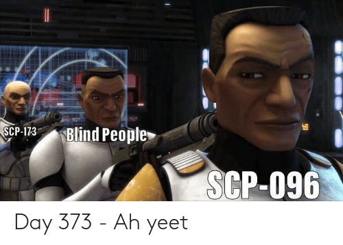 scp-173: SCP-173  Blind People  SCP-096 Day 373 - Ah yeet