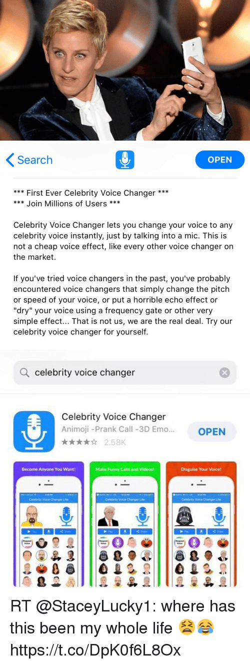 Search OPEN First Ever Celebrity Voice Changer * Join Millions of