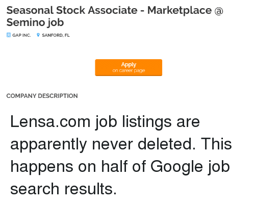 Seasonal Stock Associate Marketplace A Semino Job Gap Inc Sanford Fl