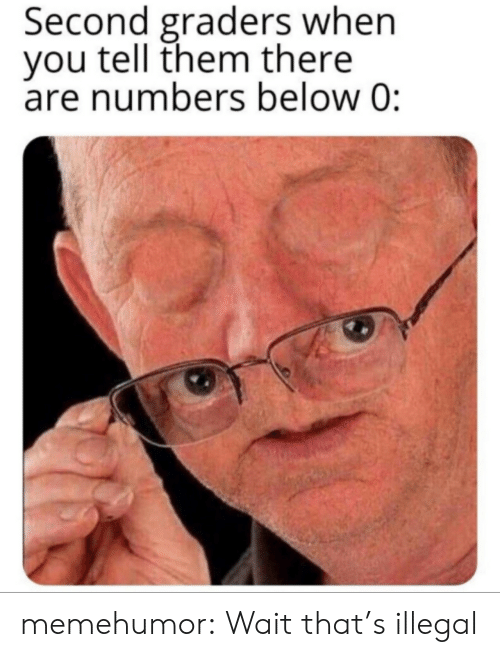 tell them: Second graders when  you tell them there  are numbers below 0: memehumor:  Wait that's illegal