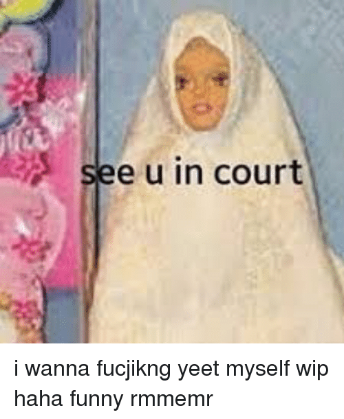 Funny, Haha, and Court: see u in court i wanna fucjikng yeet myself wip haha funny rmmemr