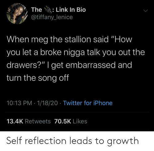 Leads: Self reflection leads to growth