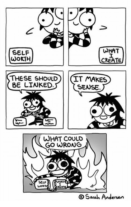 Memes, 🤖, and Create: SELF  WoKTH  WHAT  CREATE  THESE SHOULD(IT MAKES  BE LIWKED  SENSE.  WHAT COULD  GO WRONG  SELF  N1  OSarah Andersen