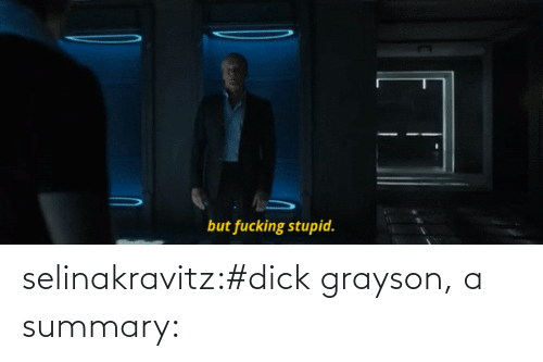 Dick: selinakravitz:#dick grayson, a summary: