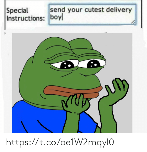 Boy, Delivery, and Cutest: send your cutest delivery  Special  Instructions: boy https://t.co/oe1W2mqyl0