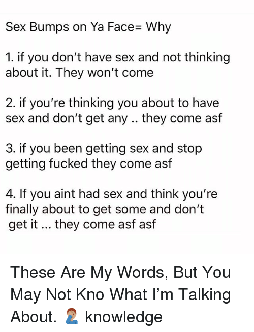 why not to have sex