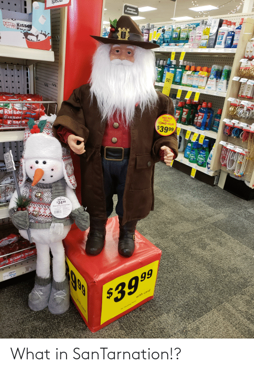 walle: Shampoo  & conditioner  CI  KIsses  $2.00  50%  KIS ses  KISses  K SSE S  RED HOT  DEAL!  SO VALUE  $3999  WALLE  $2499  Standing Snowman  0 KISSes  1999  66  14.49  $3999  with card  34-Stanclng Samta What in SanTarnation!?