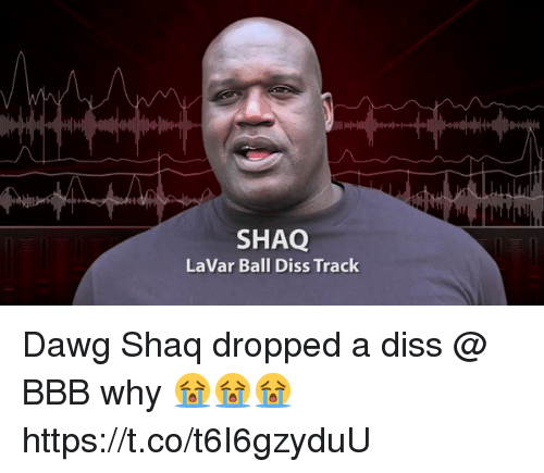 Bbb, Blackpeopletwitter, and Diss: SHAQ  LaVar Ball Diss Track Dawg Shaq dropped a diss @ BBB why 😭😭😭 https://t.co/t6I6gzyduU