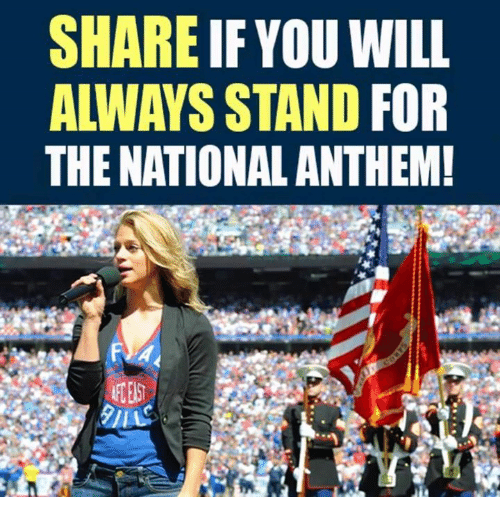Memes, National Anthem, and 🤖: SHARE IF YOU WILL  ALWAYS STAND FOR  THE NATIONAL ANTHEM