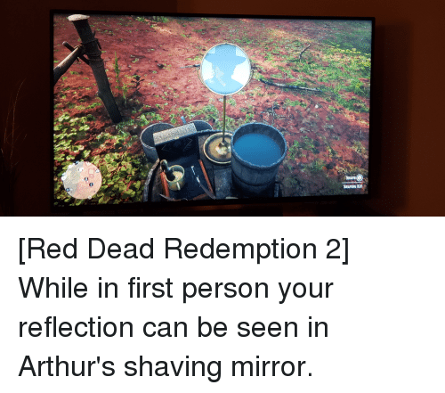Mirror, Red Dead Redemption, and Red Dead: SHAVE  SHAVING KIT