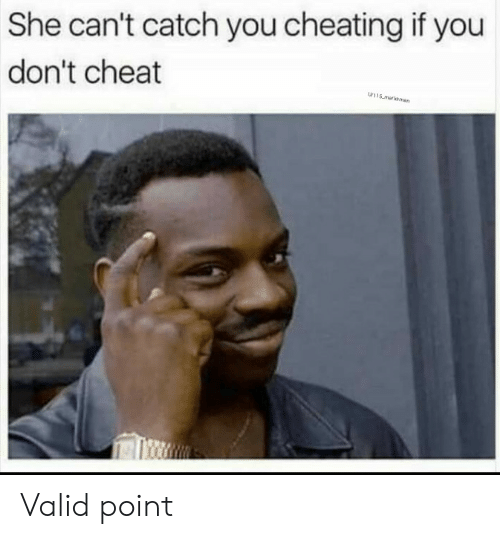 Cheating, She, and You: She can't catch you cheating if you  don't cheat  w115 malksman Valid point
