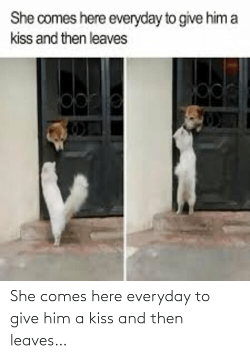 Comes: She comes here everyday to give him a kiss and then leaves…