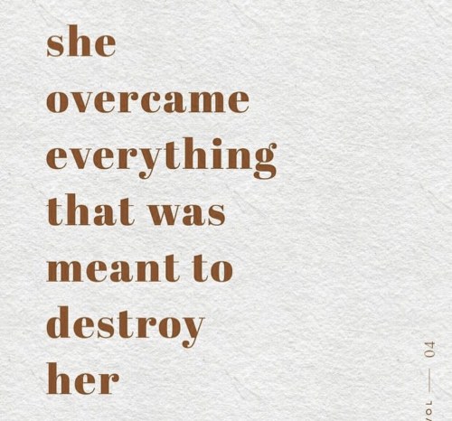 Her, She, and Everything: she  overcame  everything  that was  meant to  destroy  her  10