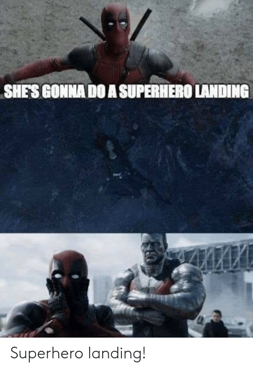 Superhero, Gonna, and Shes: SHES GONNA DO A SUPERHERO LANDING Superhero landing!