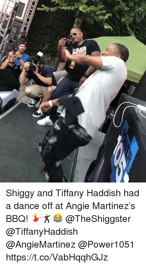 Tiffany, Dance, and Angie Martinez: Shiggy and Tiffany Haddish had a dance off at Angie Martinez's BBQ! 💃🕺😂 @TheShiggster @TiffanyHaddish @AngieMartinez @Power1051 https://t.co/VabHqqhGJz