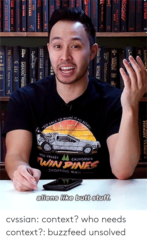 Butt, Shopping, and Tumblr: SHOPPING MAIL  aliens like butt stuff cvssian: context? who needs context?: buzzfeed unsolved