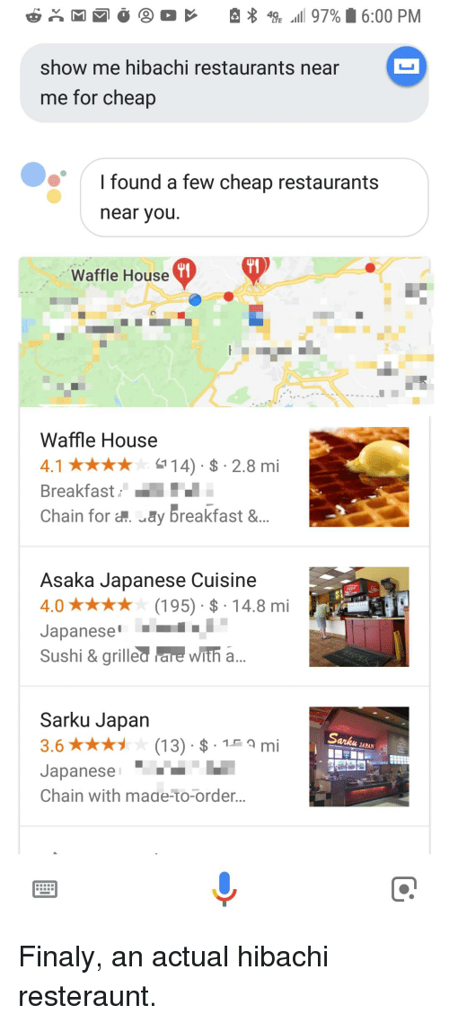 Facepalm Waffle House And Breakfast Show Me Hibachi Restaurants For