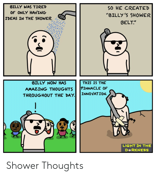 thoughts: Shower Thoughts