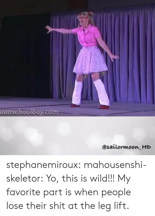 skeletor: sianschoolboy.com  @sailormoon HD stephanemiroux: mahousenshi-skeletor:  Yo, this is wild!!!   My favorite part is when people lose their shit at the leg lift.