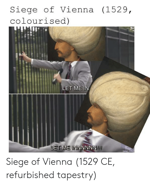 vienna: Siege of Vienna (1529,  colourised)  LET ME IN  LET ME INNNNNN! Siege of Vienna (1529 CE, refurbished tapestry)