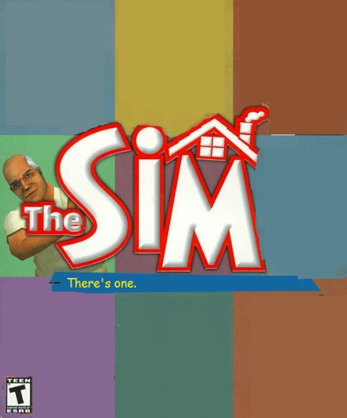 Sim, One, and Teen: SiM  The  There's one.  TEEN  coNTNT ATE  ESRB