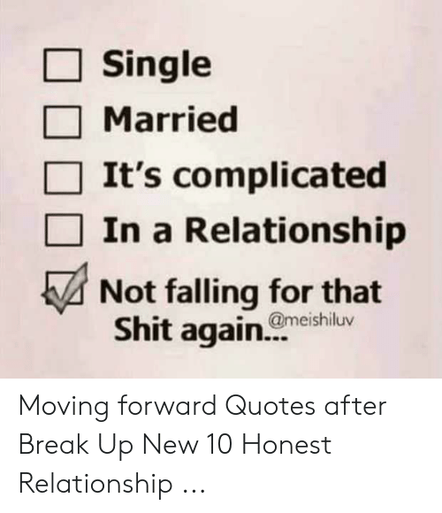 Single Married It's Complicated in a Relationship Not Falling for