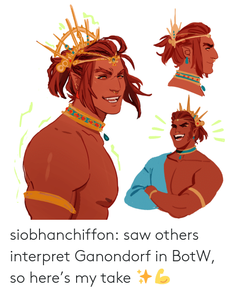 Saw, Tumblr, and Blog: siobhanchiffon:  saw others interpret Ganondorf in BotW, so here's my take ✨💪