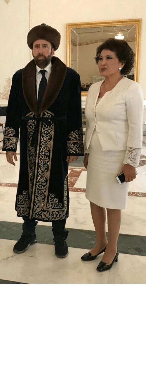 Form: sipalamana:  crowtrobot2001: Meanwhile, Nicolas Cage is in Khazakstan   maybe his physical form is there but that's about it