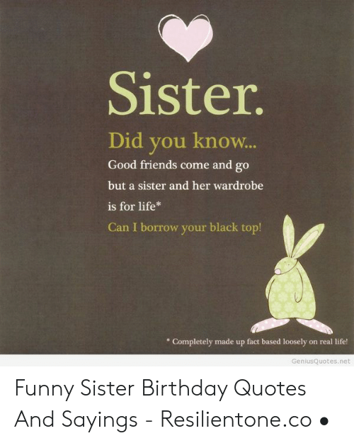 Fine 25 Best Memes About Funny Sister Birthday Quotes Funny Personalised Birthday Cards Paralily Jamesorg