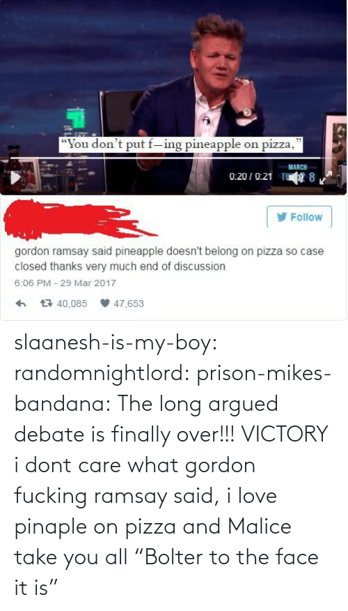 "Gordon: slaanesh-is-my-boy:  randomnightlord: prison-mikes-bandana:  The long argued debate is finally over!!!   VICTORY  i dont care what gordon fucking ramsay said, i love pinaple on pizza and Malice take you all   ""Bolter to the face it is"""