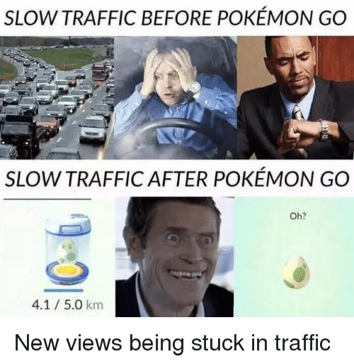 stuck in traffic