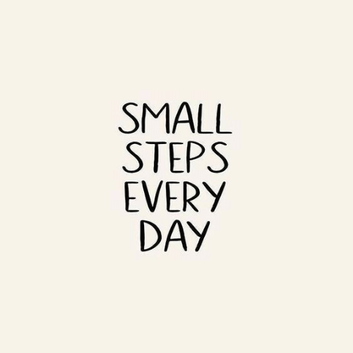Day, Steps, and Every Day: SMALL  STEPS  EVERY  DAY
