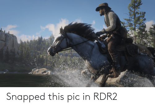 Rdr2: Snapped this pic in RDR2
